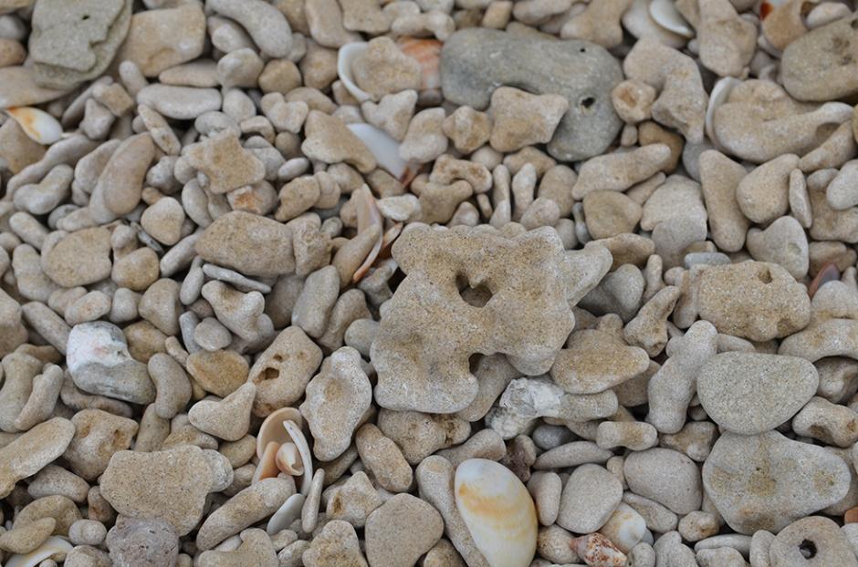 Hjerte i Stein på stranda i Netanya
